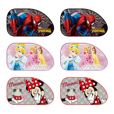2 x Large Disney Marvel Car Sun Shade UV Kids Baby Children Window Visor New