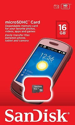 Genuine Sandisk 16gb Micro SD SDHC card Card only, Authorised Sandisk Seller