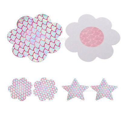 Sexy Womens Disposable Rave Pasties Adhesive Breast Petal Invisible Bra Stickers