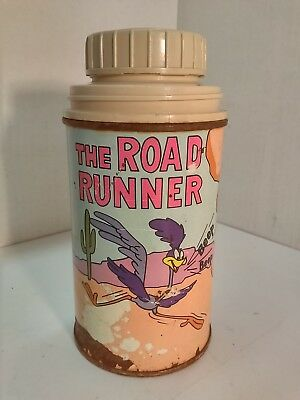 Thermos - Vintage Metal Thermos - Road Runner