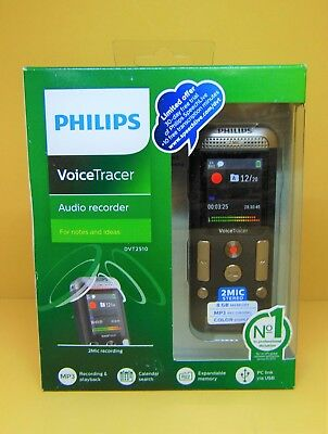 Philips DVT2510/00 Voice Tracer With 2 Mic Stereo Recording USB