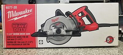 "Milwaukee 6577-20 7-1/4"" Worm Drive Saw New In Box c-x"