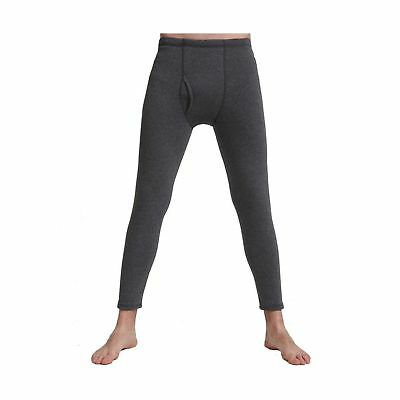 Liang Rou Men's Fleece Lined Thick Thermal Pant Dark Grey Small