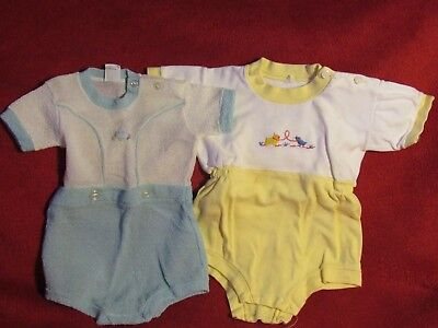 Vintage Baby, Bear or Doll Set of 2 One Piece Short Sets, Great Condition!