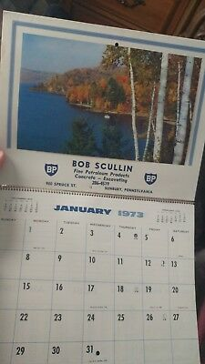 vintage BP calendar 1973 Bob Scullin Sunbury PA business advertising