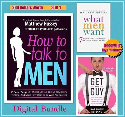 Matthew Hussey - How To Talk To Men - Get The Guy - What Men Want - eBooks 3 in1