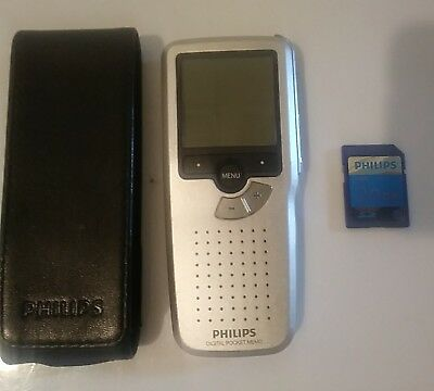 Philips 9370 Digital Pocket Memo Case and 2 Gigabite Card