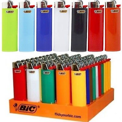Authentic BIC Full Size Disposable Cigarette Lighters Assorted Color