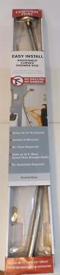 Maytex Chrome Adjustable Curved Shower Rod Adjusts 48 To 72 Inches