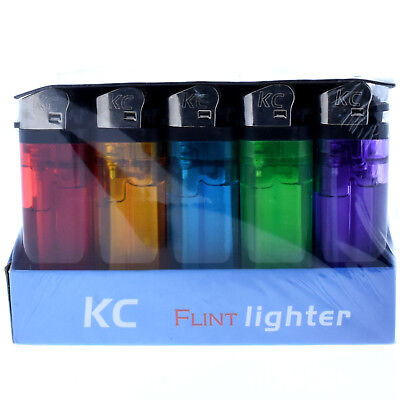 Authentic KC Flint Full Size Disposable Multi Purpose Lighter Assorted Colors