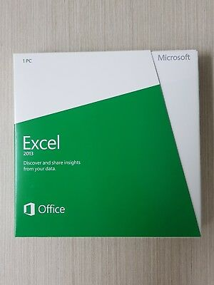 Microsoft Excel 2013 Retail DVD with Product Key