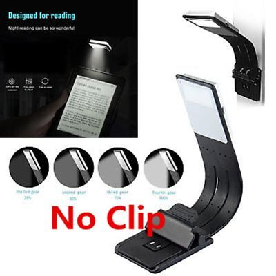 Folding Flexible LED Clip On Reading Book Light For Reader Kindle Dimming#@