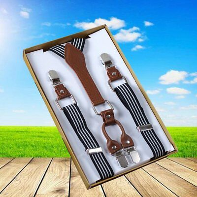 Men Women Elastic Y-Shape Braces Adjustable Clip On Suspender Unisex Cool Design
