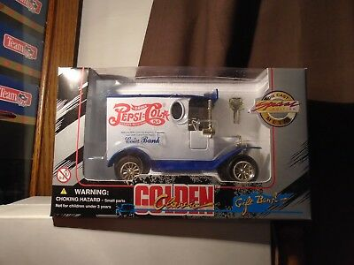 Pepsi Cola Coin Bank Golden Classic Gift Bank Diecast