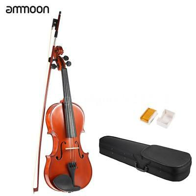 ammoon 4/4 Full Size Solid Wood Antique Violin Fiddle Gloss Finish Spruce T7R4