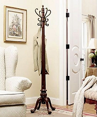 Coat Rack Stand Hanger Tree Freestanding Entryway Antique Design Home Furniture