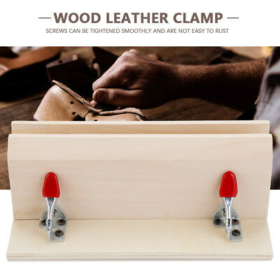 Improved Sewing Wood Horizontal Leathercraft Clamp Leather Stitching Clip Horse