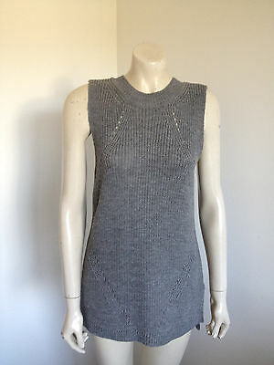Valley Girl Grey Knit Career Vest Size M *NWT*
