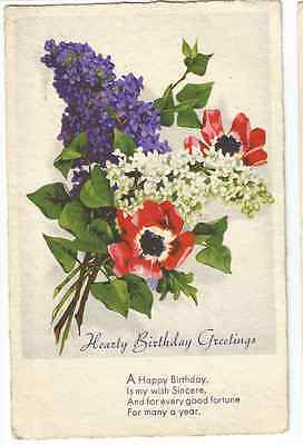 Collection 32 vintage birthday greetings postcards early 1900s to vintage birthday postcard to dumbrell headteacher fernhurst school m4hsunfo