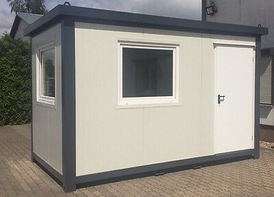 b rocontainer wohncontainer gartenhaus 4 00 x 2 20 meter. Black Bedroom Furniture Sets. Home Design Ideas