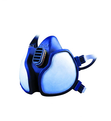 3M Half Mask Respirator - Blue - Protects From Harmful Toxic Fumes & Gases(4279)