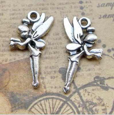 20pcs Antique Angel Fairy Tinkerbell Charms Pendant for Jewelry Making DIY Craft