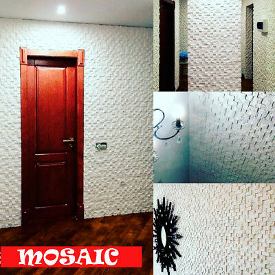 """NEW Quality Silicone Press Mold 4000+ prints 3d Decor """"Mosaic"""" Wall Panel"""