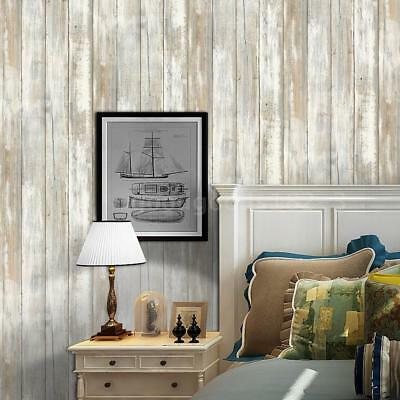 Multi-purpose PVC Vintage Self-adhesive Wood Grain Floor Wall Contact Paper N1V7
