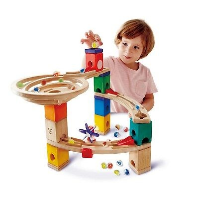 Hape Quadrilla Race To The Finish Wooden Marble Run Construction Set