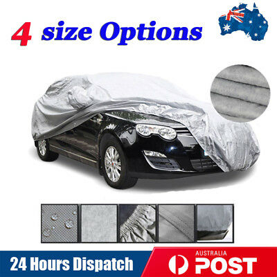Universal Double Thicker Waterproof Car Cover Rain Resistant UV Dust Protection