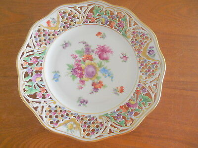 """Schumann Chateau Dresden Flowers Charger/plate, 9"""", Gold Trimmed"""