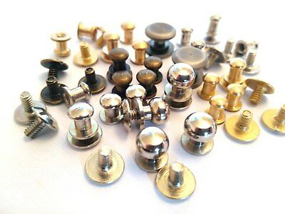 Sam Browne screw back button studs collar button Leather Craft  different models
