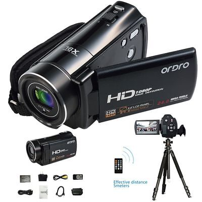 HD 1080P FULL Camcorder Digital Videokamera LCD 24MP 16x Zoom DV HDMI CAMERA VR