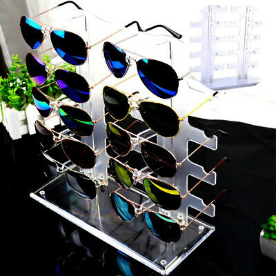 Sunglasses Rack Sunglasses Holder Glasses Frame Stand Count Display 10 Pairs New
