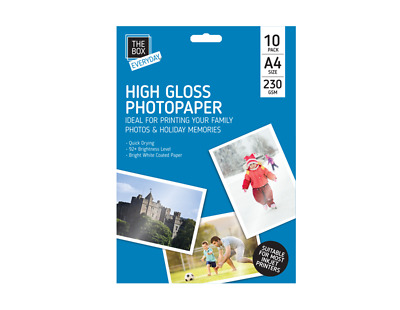 New In Pack A4 High Gloss Photo Paper 10 Sheets 230 Gsm Quick Drying