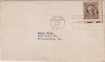 (USQ-57) 1940 USA 10c envelope to Philadelphia (BG)
