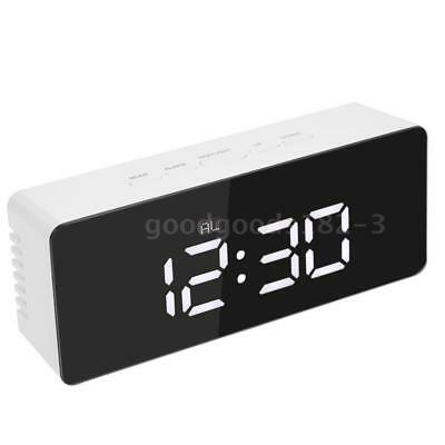 Digital LED Mirror Alarm Clock Snooze Function °C/°F Temperature Display AU Z8J2