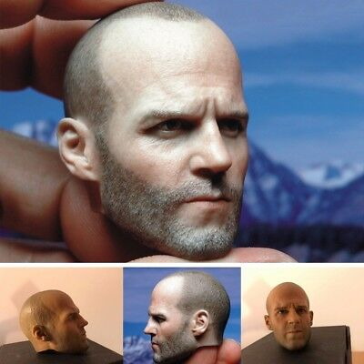 """Jason Statham 1/6 Scale Head Sculpt Model For 12"""" Male Muscular Body Hot Toys"""