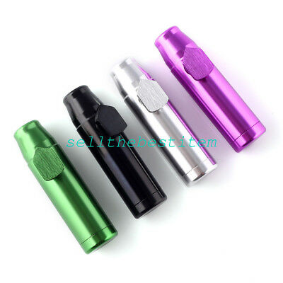 4 X Lot Metal Bullet Snuff Dispenser Snorter Rocket Shape durable aluminum Nasal