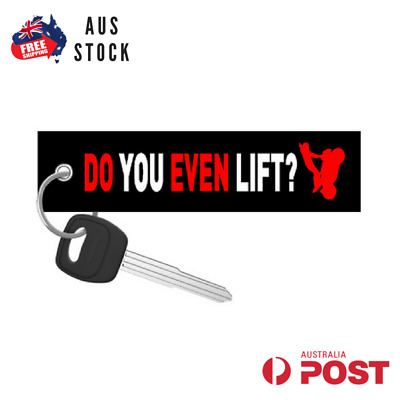 Do You Even Lift Jet Tag Keychain Key Ring Aus Stock Motoloot