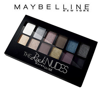 [MAYBELLINE] The ROCK Nudes Eye Shadow Palette 12 Colors 13 Looks 1 Palette NEW
