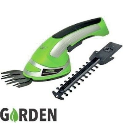 2-In-1 Garden Cordless Grass Shear & Hedge Trimmer Hand Held Shears 3.6V Bnib