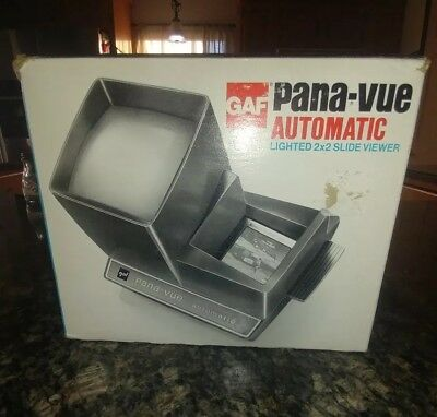 Gaf Pana Vue Automatic Lighted 2X2 Slide Viewer In Box