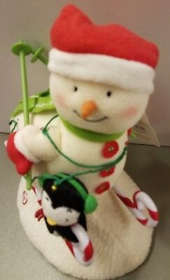 Hallmark 2012 Swooshin Duo Plush Snowman & Penguin Skiing #9 NEW WITH TAG