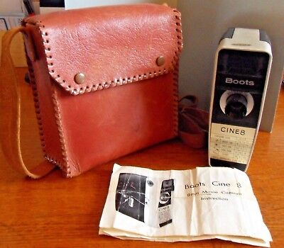 Boots Cine 8 Camera, Leather Carrying Case, Instructions