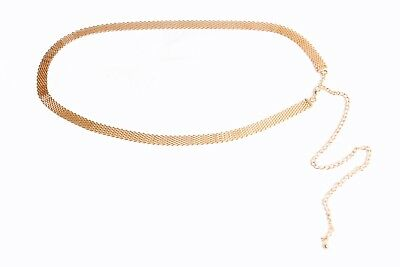 S402 Clothing, Shoes & Accessories Ladies Unique Gold Chain Belt with Chinese Coins Tassels and Clip Closing Belt