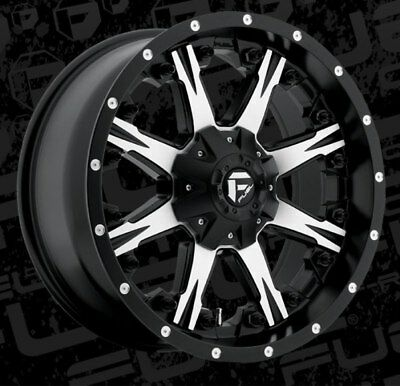 Fuel Nutz D541 20x9 8x180 ET20 Black Machined Rims New Set (4)