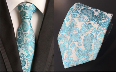 Tie Black Silk Mens Paisley Woven Classic 2018 Wedding Necktie JACQUARD New 010