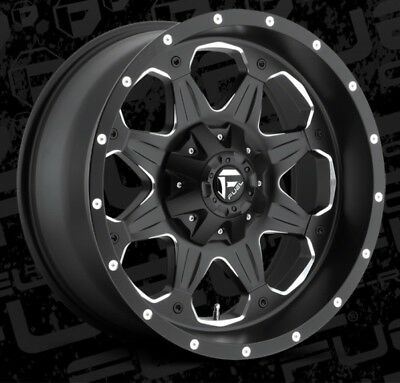 Fuel Boost D534 20x9 8x180 ET20 Black Rims New Set (4)