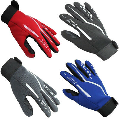 Fashion Mens Full Finger Sport Gloves Exercise Gym Gloves Yoga Gloves Black